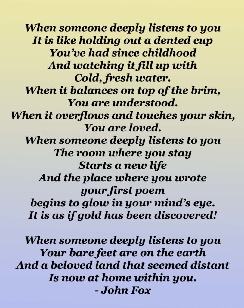 Poems on listening