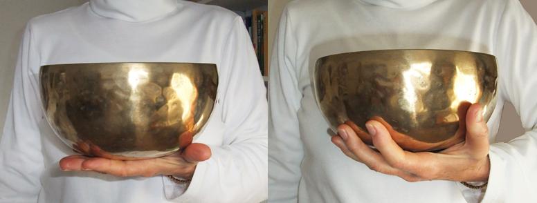 Two singing bowls